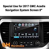 GMC Acadia 2017 8-Inch Car Navigation Screen Protector,LFOTPP [9H Hardness] Tempered Glass Center Touch Screen Protector Anti Scratch High Clarity