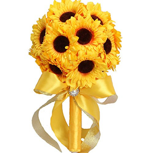 Zebratown Artificial Sunflower Bouquet Decoration product image