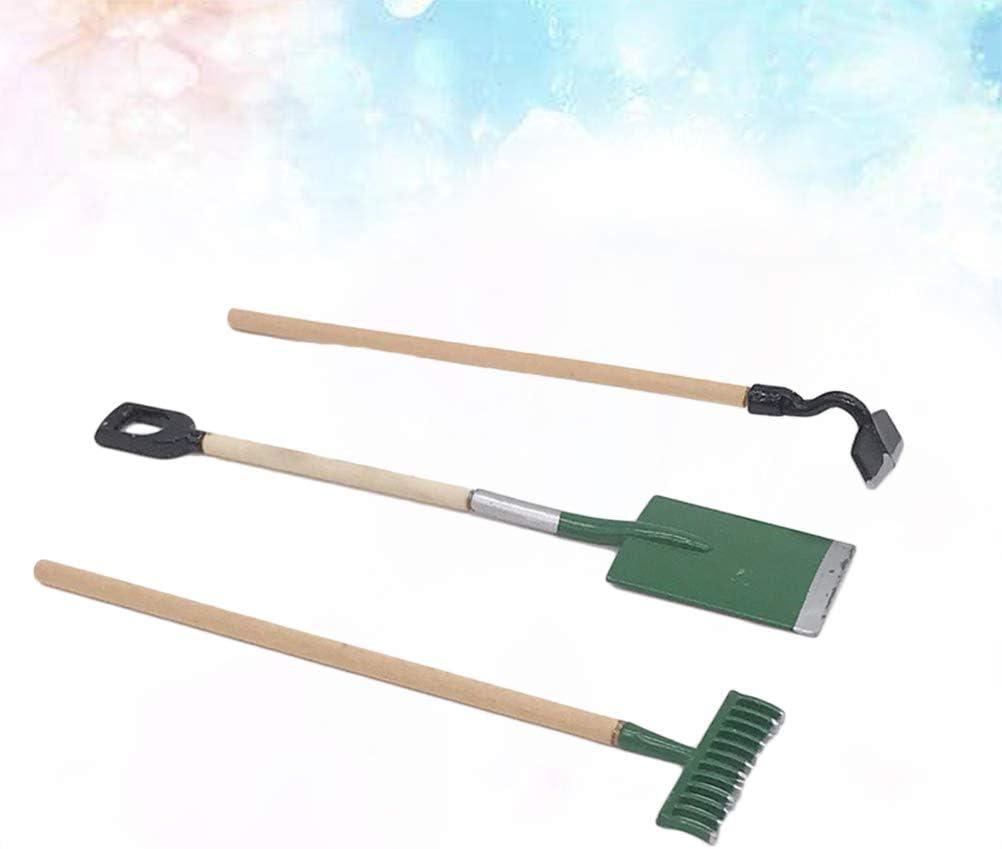 Cutogain 3pcs Mini Gardening Plant Pot Gardening Tools Small Durable Shovel Rake Spade