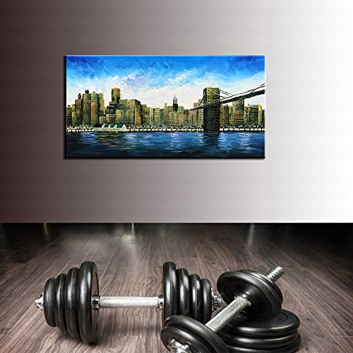 baccow 2448'' Modern Abstract Painting Wall Decor Landscape Paintings Oil Hand Painting 3D Wall Art On Canvas Abstract Artwork Art Wood Inside Framed Hanging Wall Decoration by baccow (Image #4)