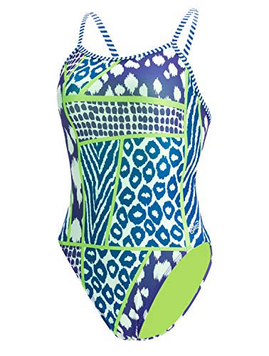 Dolfin Women's Uglies Prints Double Strap Back Swimsuit (Wild Thing, ()