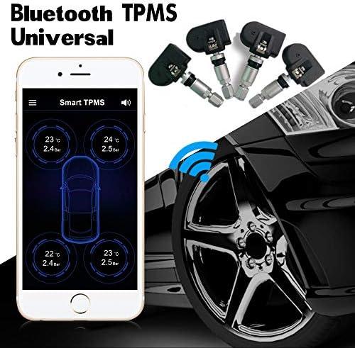 Tpms Reifendrucksensor Auto Bluetooth 4 0 Monitor Alarmsystem Android Ios Reifendruck 4 Sensoren Tpms Programmierbarer Sensor Für Reifendruckkontrollsystem Auto
