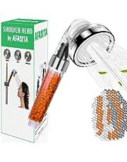 AFASITA Handheld Douchekop Ecofilter voor Hard Water, Anti-kalkaanslag Hogedruk Douchekop Ionische Filtratie Douchekop met 3 verstelbare modi
