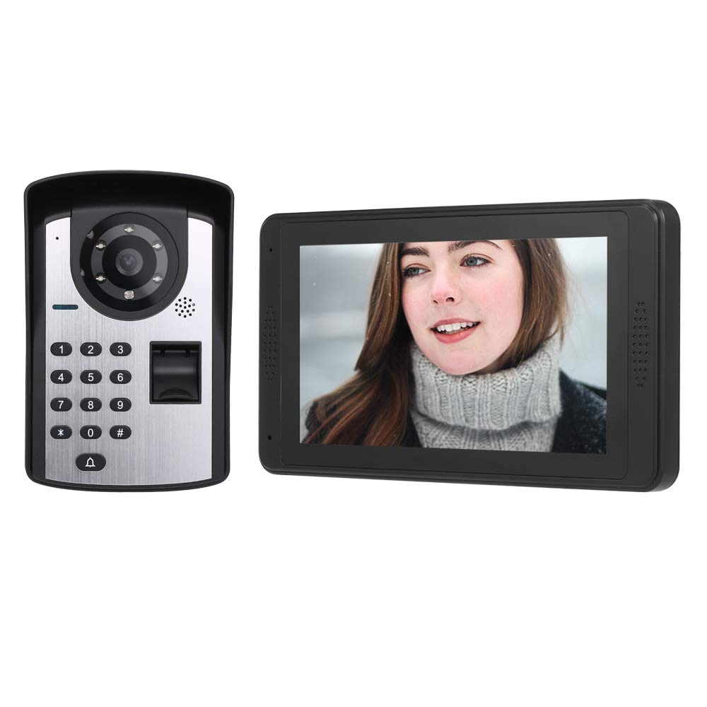Extaum Huella Digital Contrase/ña App Control Remoto Monitor de 7 Pulgadas WiFi Inal/ámbrico Videoportero Tel/éfono Timbre Intercomunicador