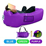 DasMeer Outdoors Inflatable Lounger, Air Beach Sofa Convenient Bag Compression Lazy Couch for Summer Hangout Sleeping Bed with Comfortable Headrest Design