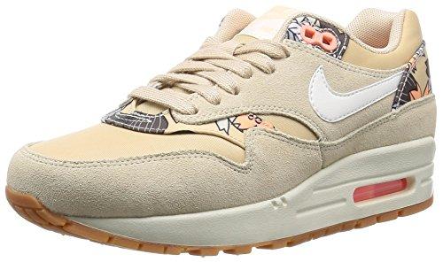Nike WMNS AIR MAX 1 PRINT Damen Sneakers Beige (200 RATTAN/SAIL-RATTAN-SUNSET GLOW)