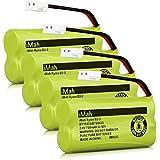 iMah Ryme B2-2 BT18433 BT28433 Phone Battery Pack Compatible Vtech CS6219 CS6229 DS6301 DS6151 DS6101 BT184342 BT284342 BT-1011 BT-1018 BT-1022 BT-1031 Home Handset Cordless Telephone (Pack of 4)