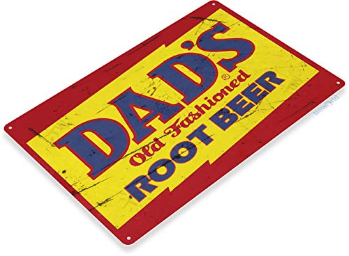(Tinworld Tin Sign Dads Root Beer Retro Rustic Soda Cola Metal Sign Decor Kitchen Cottage Farm B399)