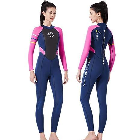 YLZN Mujer Trajes de Neopreno de Full Body Surf-Suit Traje ...