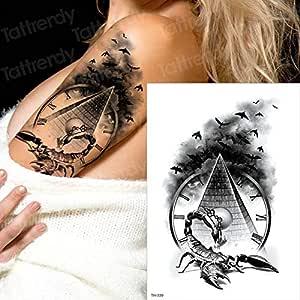 tzxdbh Horror Reloj Cuervo Nubes oscuras pirámide escorpión ...