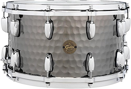 Gretsch Drums Hammered Black Steel Snare 14 x 8 in. by Gretsch Drums