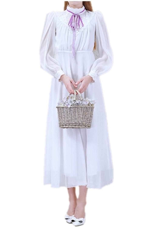 Charm Bridal White Mori Girl Dresses Holiday Dresses with Long Sleeve Fresh 2016