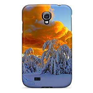 QKaLYRA6997HArmc Tpu Case Skin Protector For Galaxy S4 Golden Clouds With Nice Appearance