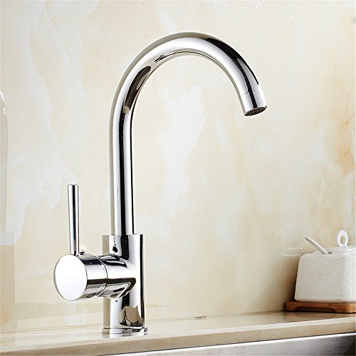 Commercial Single Lever Pull Down Kitchen Sink Faucet Brass Constructed Polished Electroplated Kitchen Faucet Swivel Sink Sink Elbow Faucet