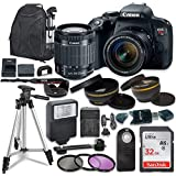 Canon EOS Rebel T7I DSLR Camera W/EF-S 18-55mm is STM Lens + 32GB, Backpack and Accessory Bundle