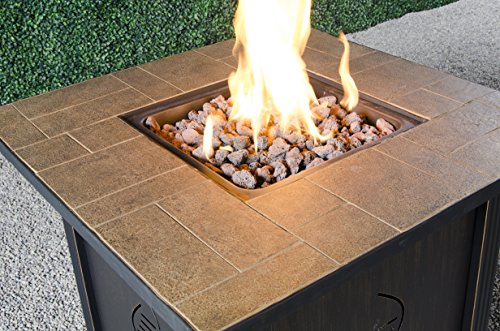 Amazon Com Bond Manufacturing 68487a Lari Outdoor Gas Fire Pit