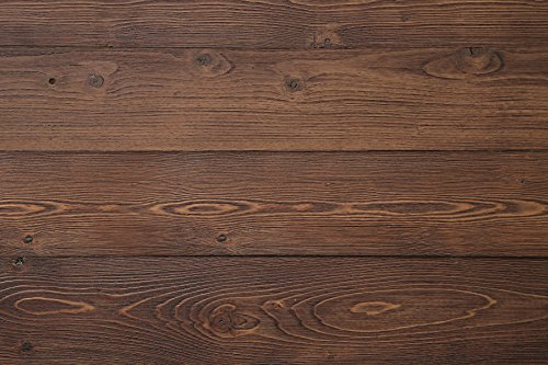 WoodyWalls Self-adhesive, Wood Collapse Panels. (19.5 sq. ft. per box) Old Brown
