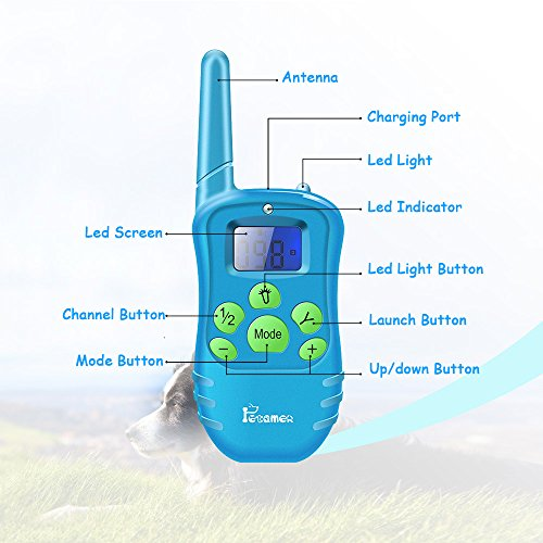 PETAMER-Pet-Training-Collar-For-2-DogsSoft-Silicone-Probes-Waterproof-Rechargeable-Electric-Remote-Bark-Collar-One-Hand-Controlled-Safe-Humane-Dog-Shock-Vibro-Beep-Collar