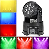 Lixada DMX-512 Stage Lighting Mini Moving Head Light 4 In 1 RGBW LED PAR Light Lighting Strobe Professional 9/14 Channels 100W AC 100-240V Sound Active for KTV Club Bar Party Disco DJ Show Bands
