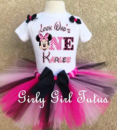 Minnie Mouse 1st Birthday Custom Outfit Tutu Set]()