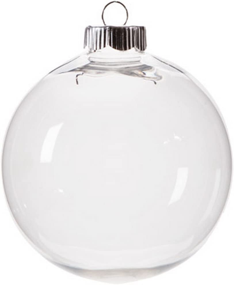Darice 4-Pack Shatter Proof Plastic Ball Ornaments 100mm for Crafting, Creating and Gifting - 2610-65
