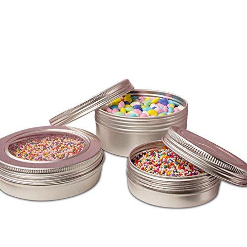 48ea - 3 Oz Window Aluminum Tin Can - Pkg