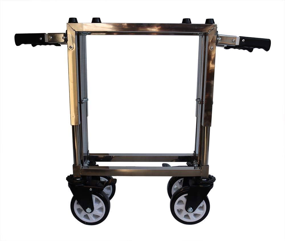 TECHTONGDA Folding Coffin Cart Casket Truck Church Funeral Mortuary Trolley Steel