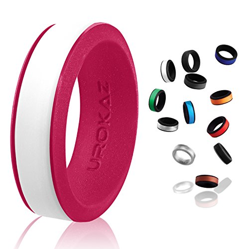 Palladium Princess Ring - UROKAZ - Silicone Wedding Ring, The Only Ring That Fits Your Lifestyle - Whether You are Single or Married, Ring is Right for You - It is Fashionable, Flexible, and Comfortable