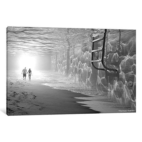 iCanvasART TBY24 Sunbathing Canvas Print by Thomas Barbey 40 by 26-Inch 0.75-Inch Deep [並行輸入品]   B07GZJS3SY
