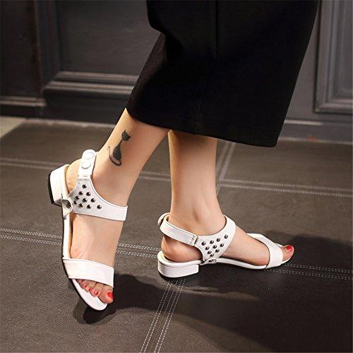 Mujer Casual Para Exing C Abierto Caminar Pu Pie Confort Dedo Sandalias Talón Verano Rhinestone Del De Zapatos pxqrqwZ01E