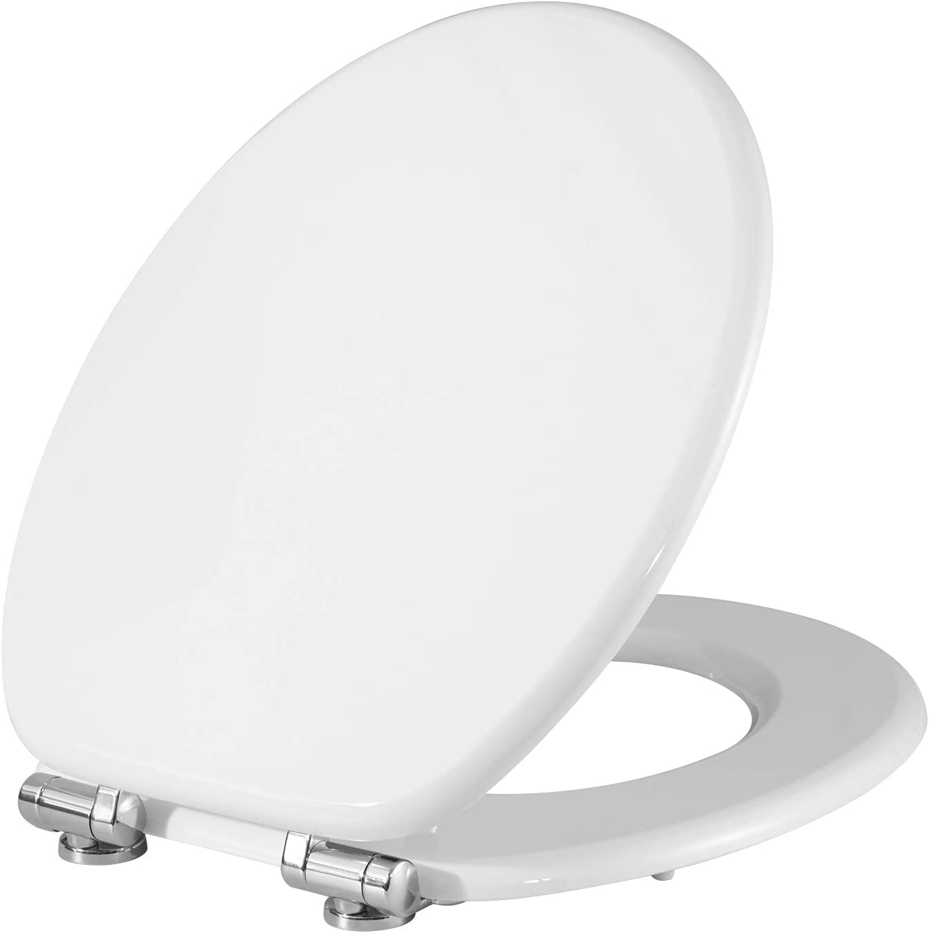 Soft Close WC Seat with Strong Hinge Ideal for Standard Toilet WOLTU Toilet Seat Wood