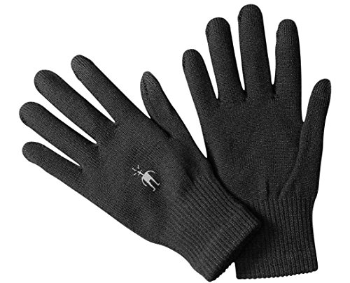 - SmartWool Merino Wool Liner Glove - Touch Screen Compatible Design for Men and Women Medium Black