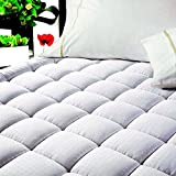 "EASELAND Quilted Fitted ✅Cooling Mattress Pad (Full)-Mattress Cover Stretches up ✅8-21"" Deep Pocket Down Alternative Filling Mattress Topper"