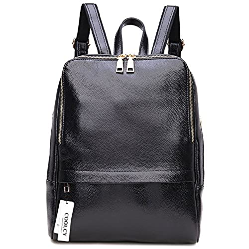 Women's Black Leather Backpack: Amazon.com