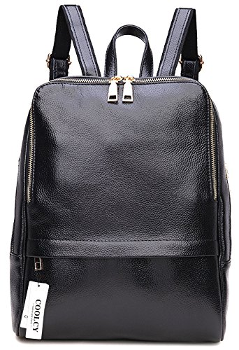 Amazon.com | Coolcy Hot Style Women Real Genuine Leather Backpack ...