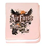 Royal Lion Baby Blanket US Air Force Any Time Any Place Where - Petal Pink