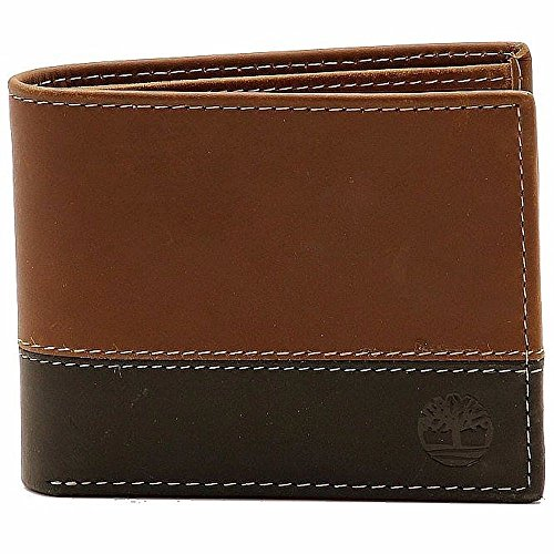 Black Leather Logo Pouch - Timberland Men's Hunter Leather Passcase Wallet Trifold Wallet Hybrid