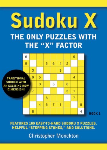 1St  Sudoku X Book 1  The Only Puzzles With The X Factor