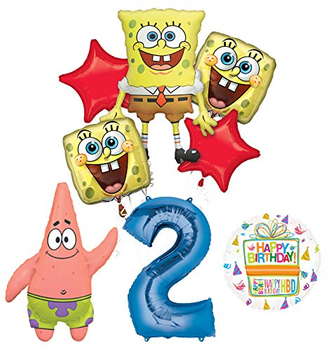 Spongebob Squarepants 2nd Birthday Party Supplies and Balloon Bouquet Decorations ()