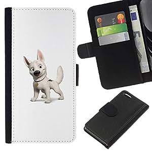 NEECELL GIFT forCITY // Billetera de cuero Caso Cubierta de protección Carcasa / Leather Wallet Case for Apple Iphone 5C // Perno Perro