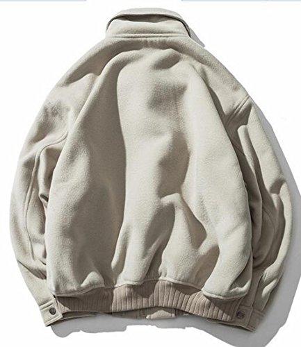 Light Jacket Blend Coat Sleeve Men Green Button Long Up Casual Short UK today Wool 4q7UgF4