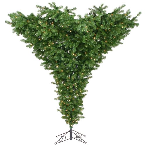 Vickerman 75' Upside Down Artificial Christmas Tree with 650 Clear Lights Upside Down Christmas Trees