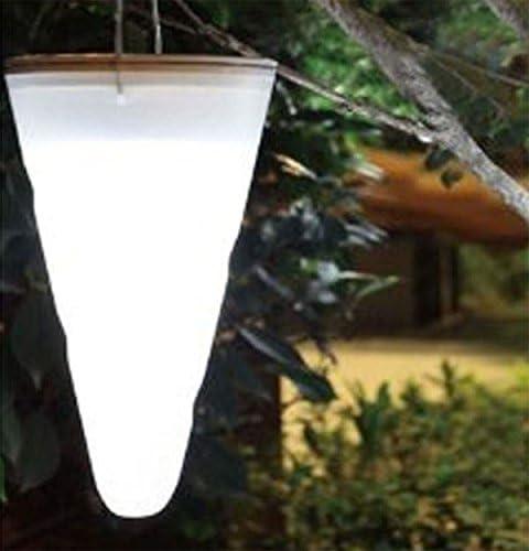 Solar al aire libre único jardín colgante árbol corneta cono llevó luces: Amazon.es: Jardín