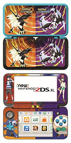 Pokemon Ultra Sun and Ultra Moon Game Skin for New Nintendo 2DS XL Console 100% Satisfaction Guarantee! (Pokemon Ultra Sun And Ultra Moon New Pokemon)