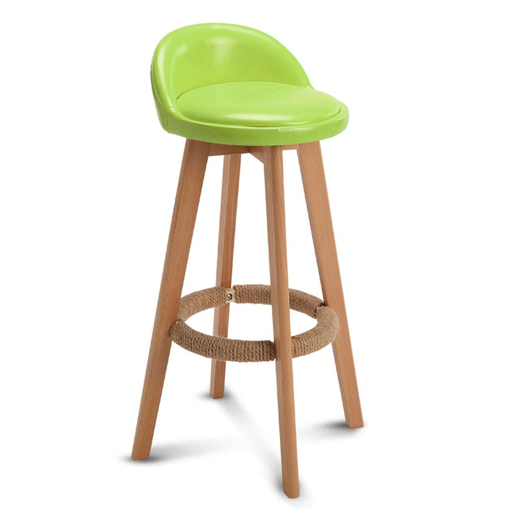 C PU Leather Bar Stool, with Backrest redatable Solid Wood Frame Fabric Dining Chair Breakfast Stool Modern Style Chair, for Kitchen, Restaurant, Cafe, Bar (color Optional) (color   E)