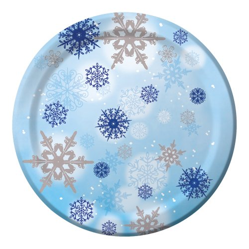 Creative Converting 8 Count Shimmering Flakes Paper Banquet Plates ()