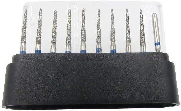 50Pcs Diamond Burs Drill Set Carborundum Burr FG TR-11