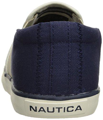 Mocassino Slip-on Da Uomo Nautica Blu / Crema Vela