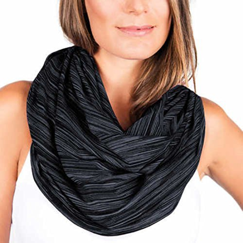 - Champion Women's Lightweight Snap Scarf, Black, One Size