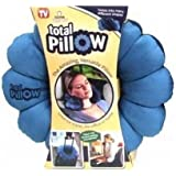 Total Pillow Microbead Portable Pillow - Use at Home or On The Go To Support Your Neck, Back and Knees